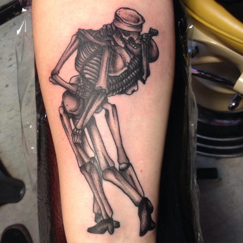Kiss Tattoo another skeleton kiss   revival tattoo company